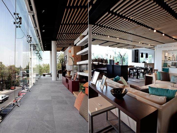 thiet-ke-showroom-noi-that-calle-veinte-01 Thiết kế cửa hàng showroom nội thất Calle Veinte - chiều sâu và cao