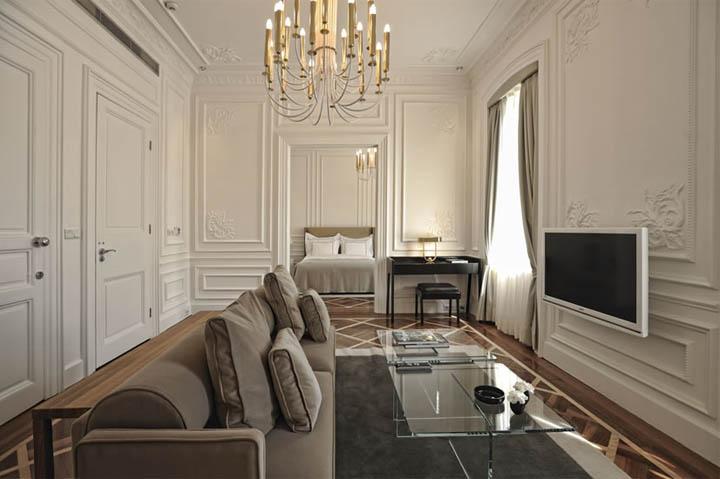 Phòng khách cổ điển trong thiết kế nội thất căn hộ chung cư