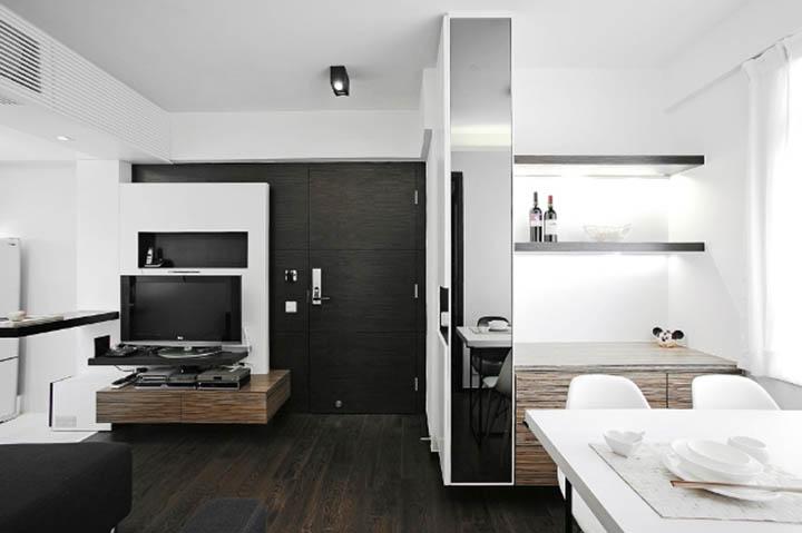 Phòng khách hiện đại trong thiết kế nội thất căn hộ chung cư
