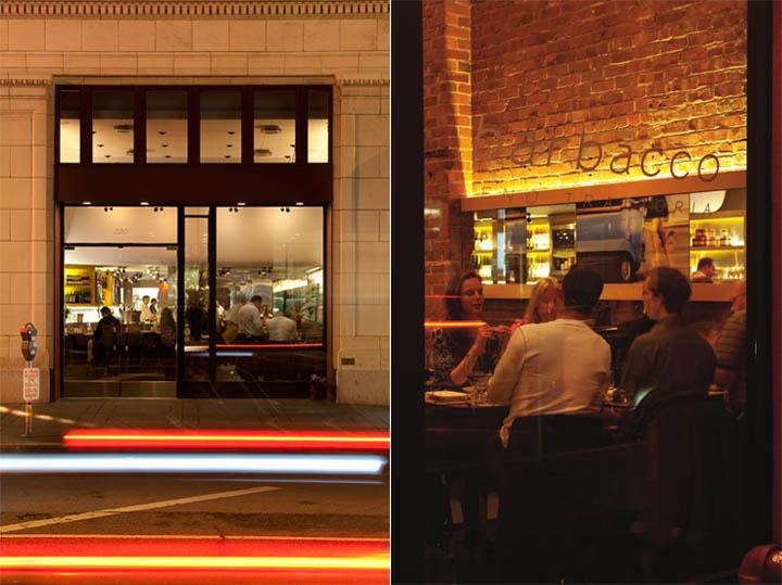 Nhà hàng Barbacco vào buổi tối