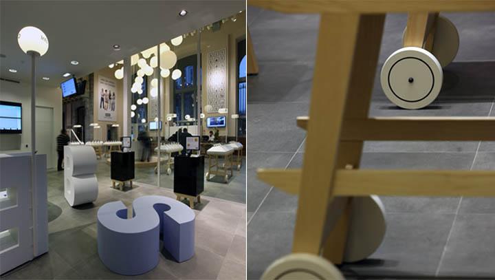 Cửa hàng thể hiện một phong cách thiết kế tinh tế và linh động