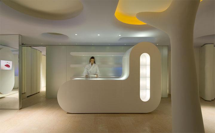 Thiết kế nội thất spa khu vực tiếp tân