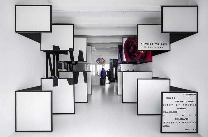 Thiết kế shop thời trang dựa trên bố cục đối xứng