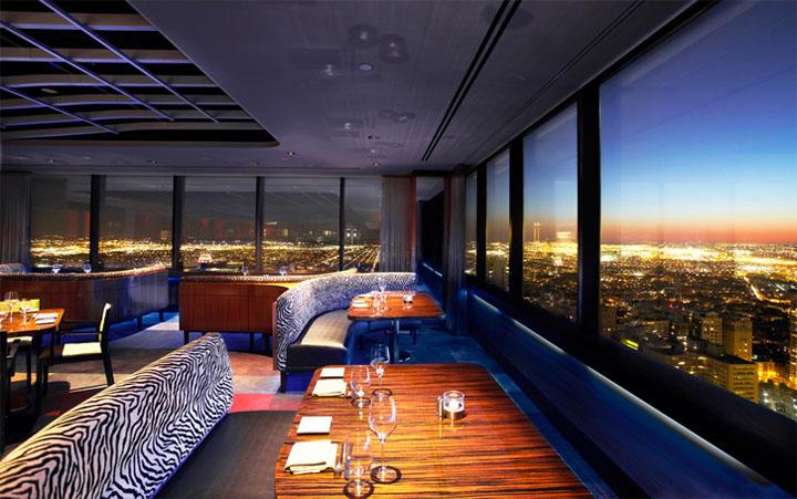 Thiết kế nội thất nhà hàng ngắm nhìn ra quang cảnh thành phố