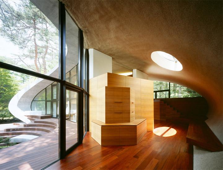 thiet-ke-biet-thu-nghi-duong-shell-house-01 Shell House - Thiết kế biệt thự nghỉ dưỡng giữa rừng thông