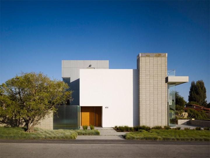 Mặt tiền hiện đại của thiết kế biệt thự biển Zeidler Residence