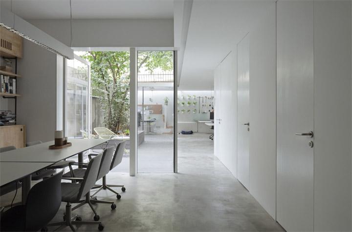 Thiết kế văn phòng làm việc xung quanh cây Lạp Mai