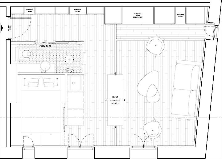 Mặt bằng căn hộ 30m2
