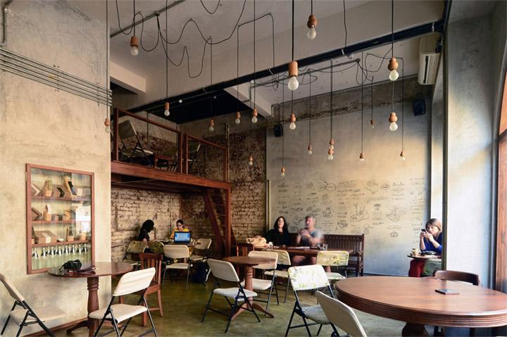 Thiết kế quán cafe nhỏ đẹp này nằm tai một khu di tích lịch sử