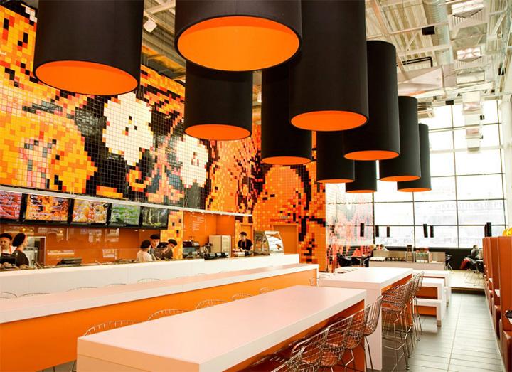 thiet-ke-noi-that-nha-hang-phong-tra-teespoon-01 Sắc cam trong thiết kế nội thất nhà hàng và phòng trà Teaspoon