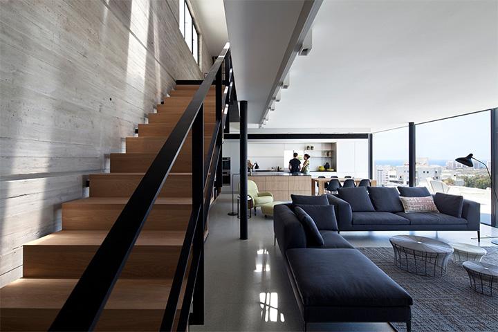 thiet-ke-can-ho-cao-cap-hai-tang-voi-khong-gian-nho-01 Y Penthouse –  Thiết kế căn hộ cao cấp hai tầng tiện nghi