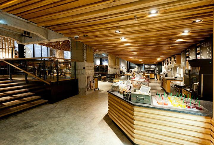thiet-ke-noi-that-cua-hang-cafe-starbucks-voi-phong-cach-rustic-01 Phong cách Rustic trong thiết kế nội thất cửa hàng cafe Starbucks