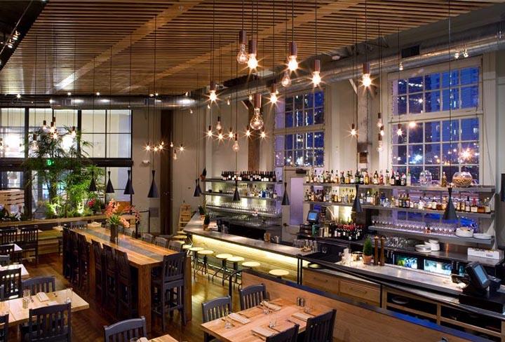 Một quán quán cafe được thiết kế đồng bộ hóa