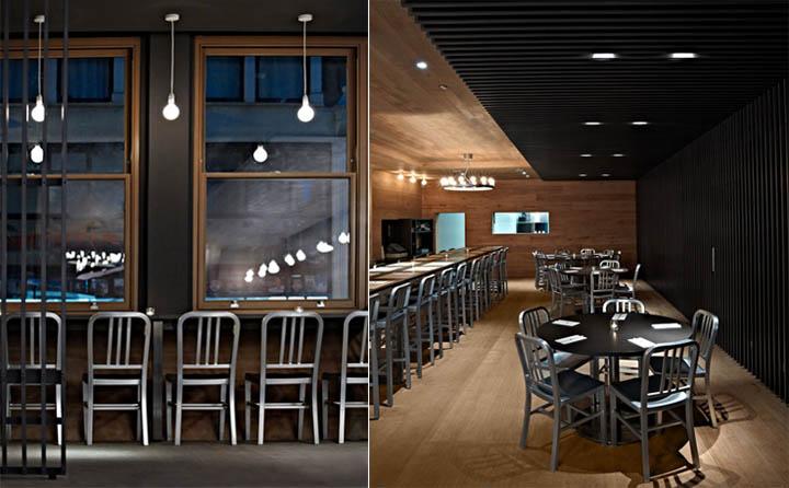 Vật liệu gỗ ốp tường và lam gỗ giúp không gian có cảm giác rộng hơn