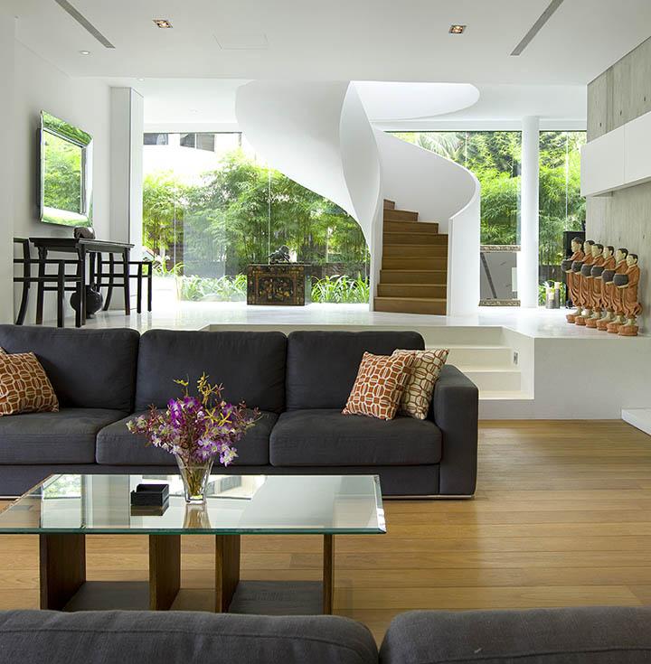 Phong cách thiết kế tổng thể dựa trên yêu cầu của chủ đầu tư về một không gian thông thoáng và hiện đại