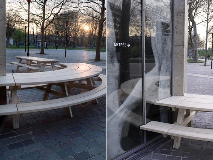 Nhà hàng hướng ra công viên Parc de Bercy