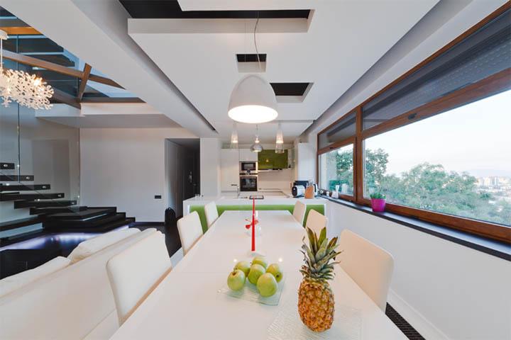 Thiết kế nội thất căn hộ chung cư có view nhìn ra cảnh quan thành phố