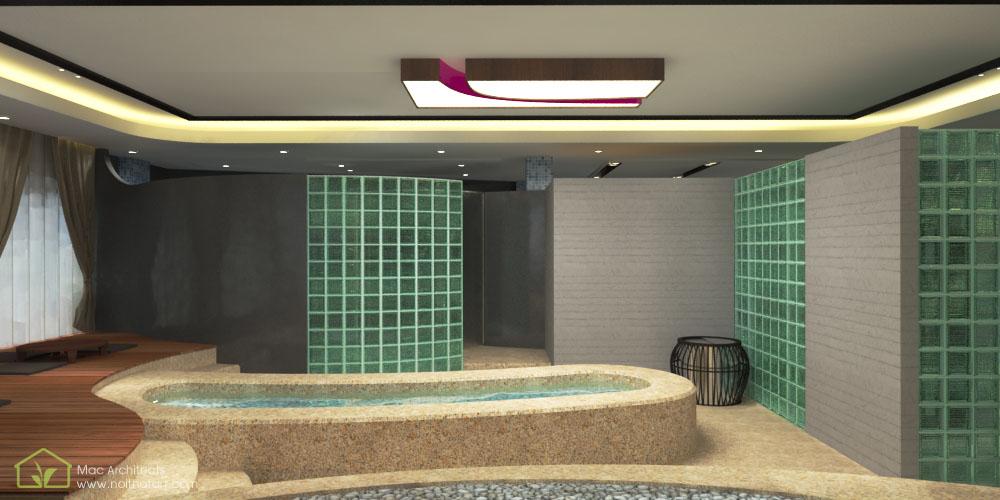 Thiết kế nội thất spa massage có nhiều chi tiết gần gũi