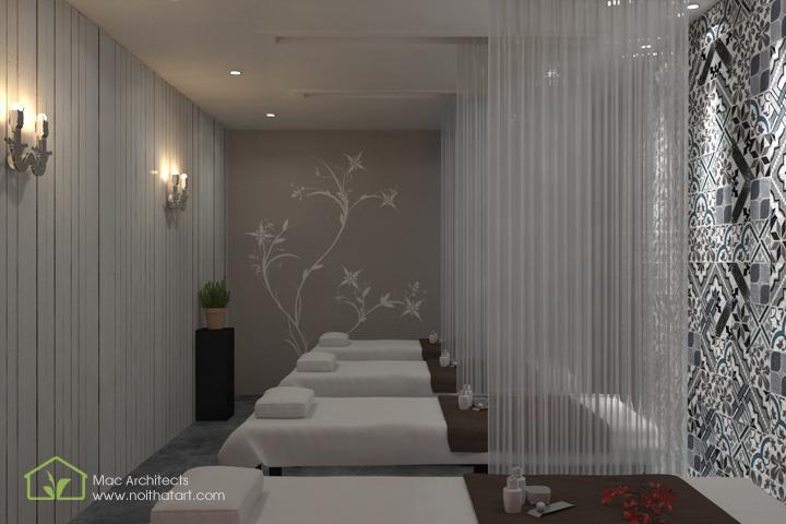 Diva Spa - Thiết kế nội thất spa tông trầm từ vật liệu thô 8