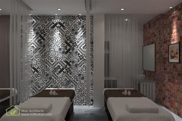 Diva Spa - Thiết kế nội thất spa tông trầm từ vật liệu thô 10