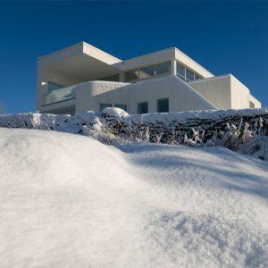 Thiết kế nhà villa như hòa cùng mùa đông Na Uy