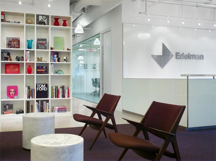Nét hiện đại trong thiết kế nội thất văn phòng làm việc công ty Edelman PR