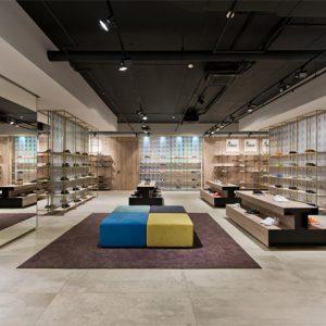 Thiết kế shop giày dép theo hệ một mô đun cố định