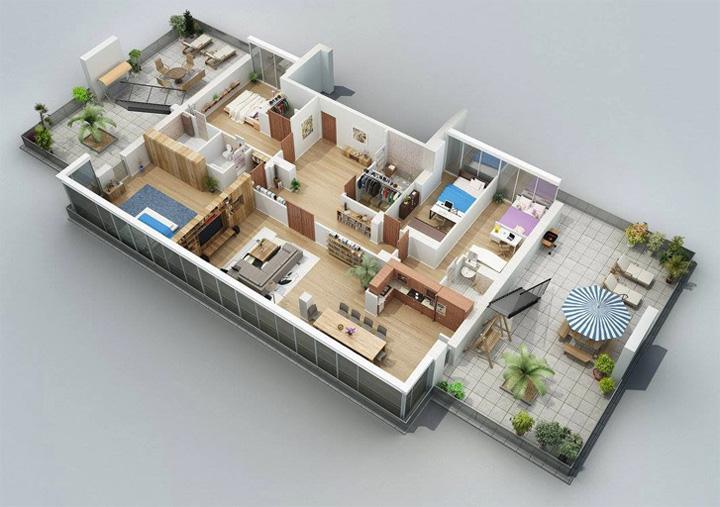 Tham khảo các thiết kế 3d căn hộ đẹp để có cái nhìn tổng thể 16