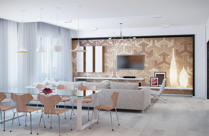 Sự đa năng của vật liệu gỗ sáng màu trong thiết kế nội thất 3