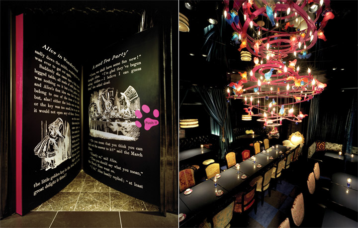 Huyền bí, kì thứ và đầy ắp những màu sắc là điều mà nhà hàng theo phong cách Alice lạc vào xứ sở thần tiên nên có