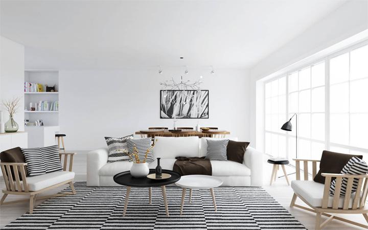 Mẫu thiết kế căn hộ đẹp theo phong cách Scandinavian tối giản 1
