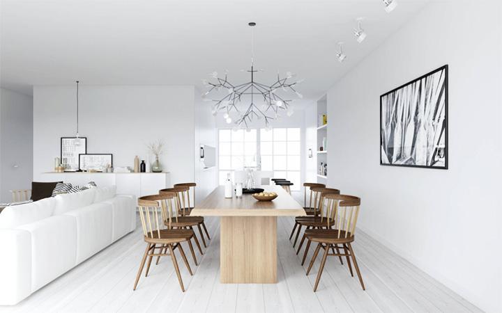 Mẫu thiết kế căn hộ đẹp theo phong cách Scandinavian tối giản 3