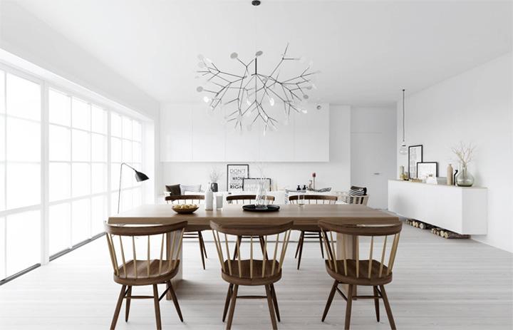 Mẫu thiết kế căn hộ đẹp theo phong cách Scandinavian tối giản 4