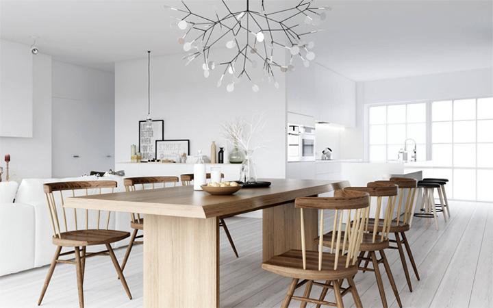 Mẫu thiết kế căn hộ đẹp theo phong cách Scandinavian tối giản 5