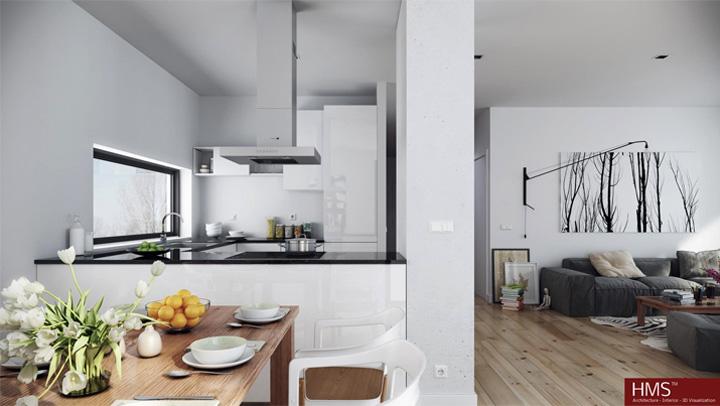 Mẫu thiết kế căn hộ đẹp theo phong cách Scandinavian tối giản 7