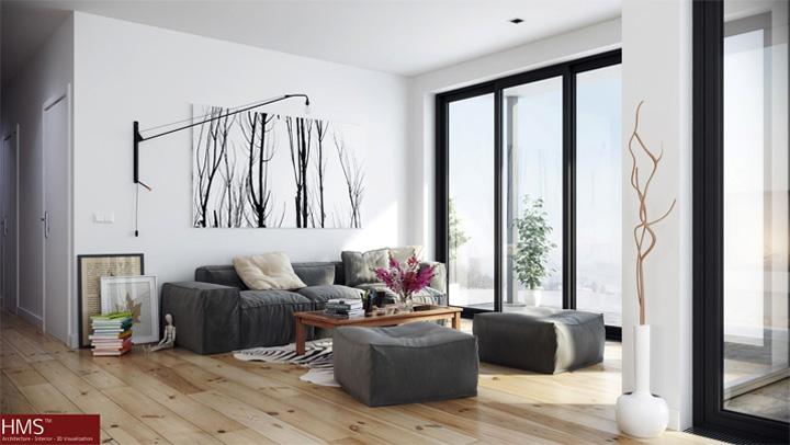Mẫu thiết kế căn hộ đẹp theo phong cách Scandinavian tối giản 9