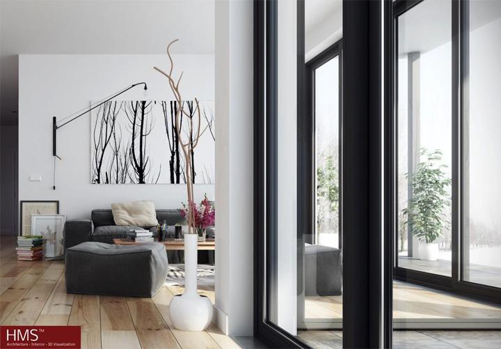 Mẫu thiết kế căn hộ đẹp theo phong cách Scandinavian tối giản 10