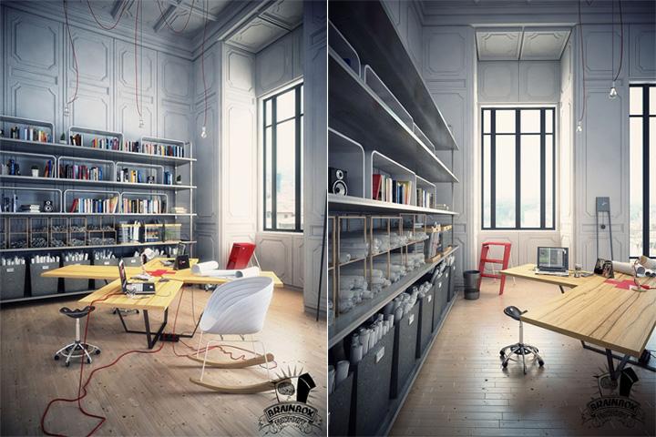 Mẫu thiết kế văn phòng tại nhà giúp tăng hiệu quả làm việc 12