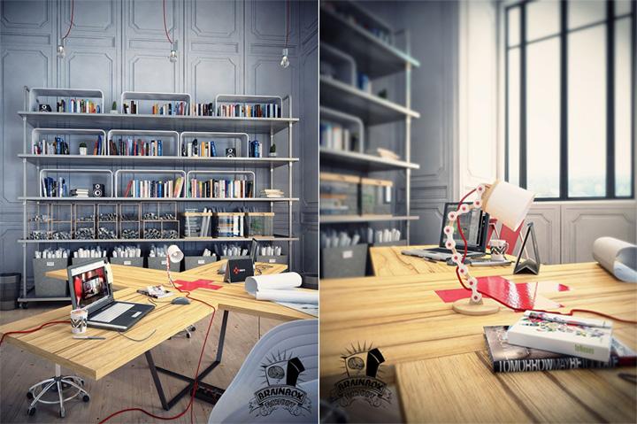 Mẫu thiết kế văn phòng tại nhà giúp tăng hiệu quả làm việc 13