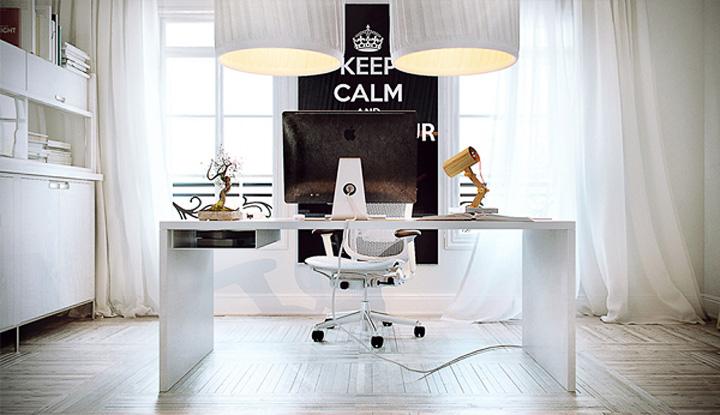Mẫu thiết kế văn phòng tại nhà giúp tăng hiệu quả làm việc 3