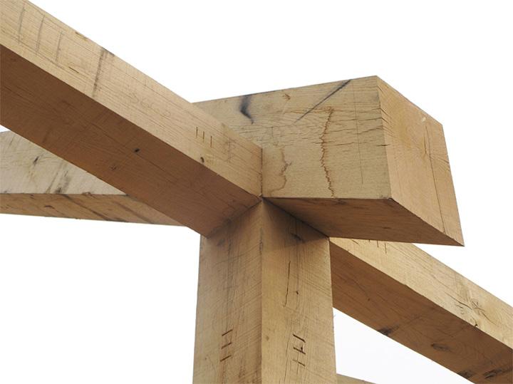 Timber Frame House - Thiết kế nhà 2 tầng kết hợp khung gỗ sồi 4