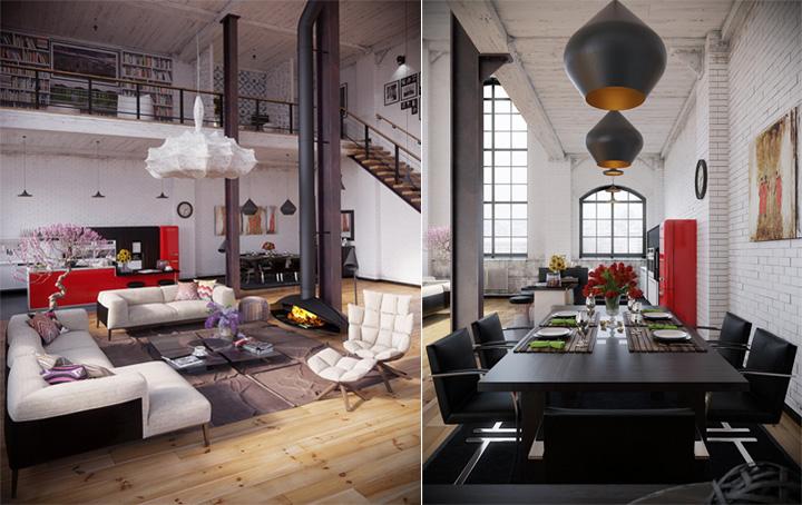 Thiết kế nội thất căn hộ Industrial với những đặc tính khác biệt 2