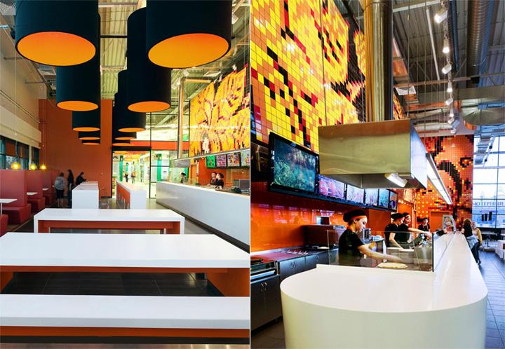 Sắc cam trong thiết kế nội thất nhà hàng và phòng trà Teaspoon 2