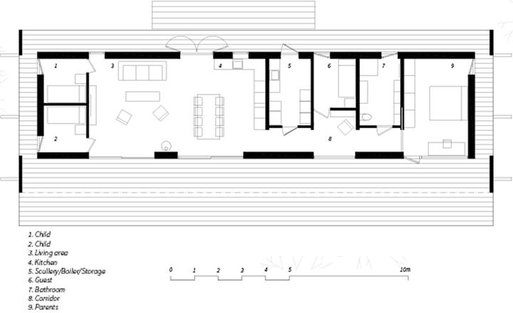 Sommarhus Akenine - Thiết kế nhà nghỉ dưỡng mùa hè trong rừng 10