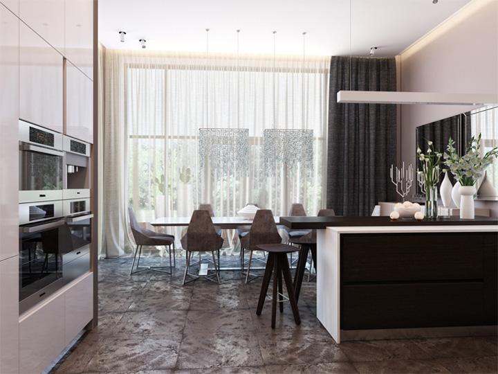Thiết kế nội thất căn hộ hiện đại theo phong cách năng động 6