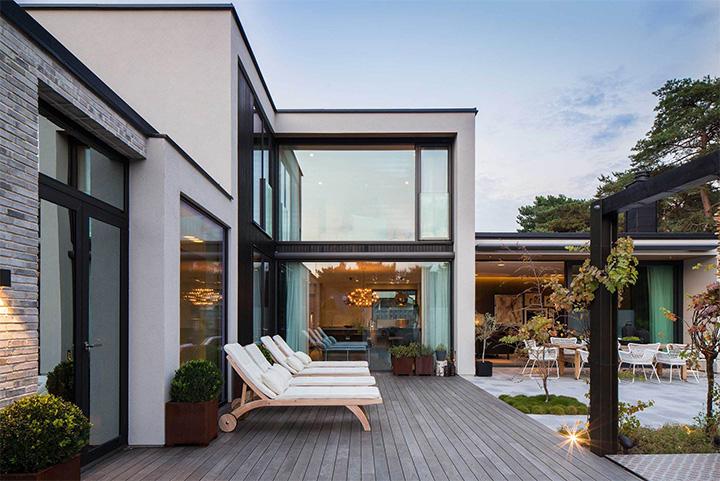 Villa J - Ý tưởng thiết kế biệt thự sân vườn đẹp tại Thụy Điển 12
