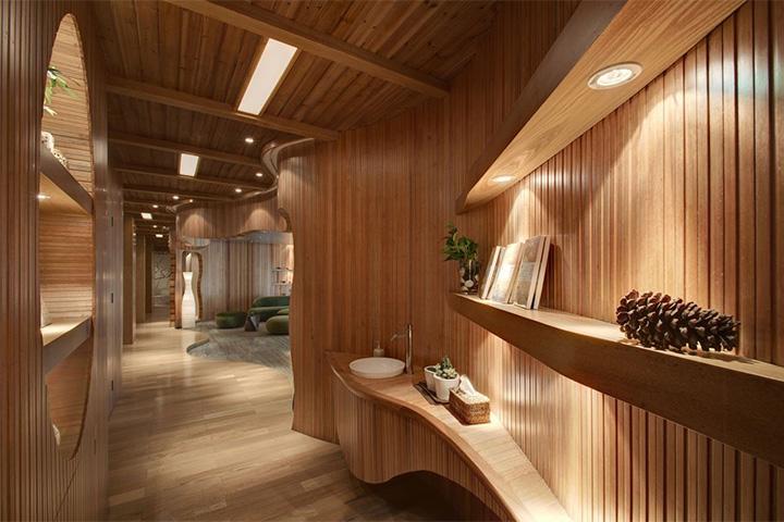 Nét thanh tịnh với mẫu thiết kế nội thất spa nghỉ dưỡng đẹp 6