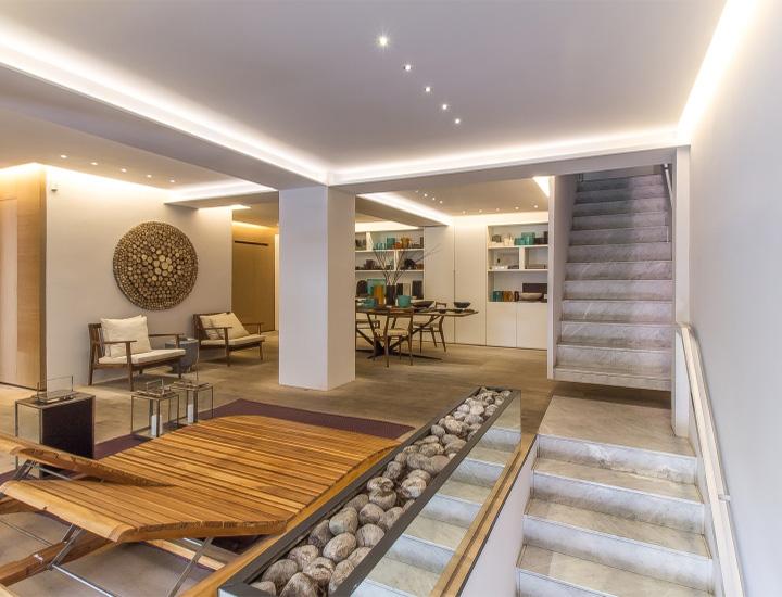 Ezequiel Farca - Gỗ và đá cẩm thạch trong thiết kế nội thất showroom 3