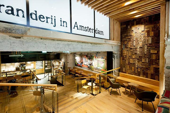 Phong cách Rustic trong thiết kế nội thất cửa hàng cafe Starbucks 3