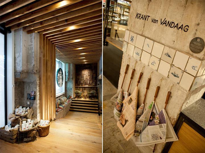 Phong cách Rustic trong thiết kế nội thất cửa hàng cafe Starbucks 7